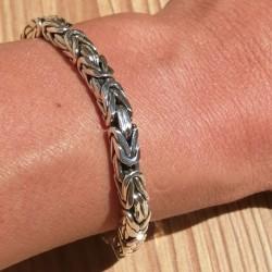 Bracelet snake articulé argent 925 millième axe carré qualité