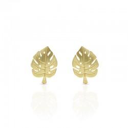 Boucles d'oreilles dorées RAS spirales
