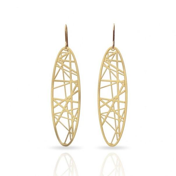 Boucles d'oreilles dorées RAS 6 spirales