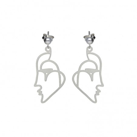Boucles d'oreilles clous baiser vénitien argentées RAS