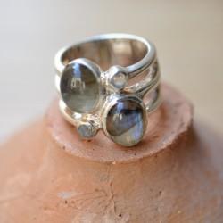 Bague anneau massif large...
