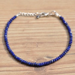 bracelet fin en petites pierres en lapis lazuli
