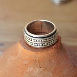 anneau large massif tourne meditation pour homme