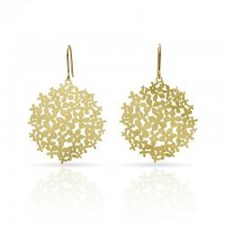 boucles fleurs dorée espagnoles