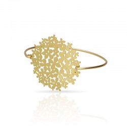 Bracelet doré hortensia