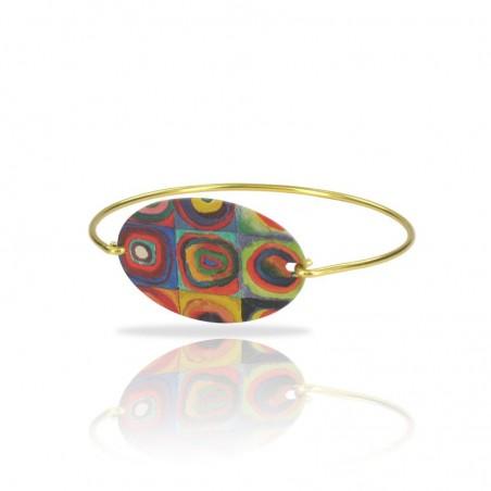 bracelet doré fin motif kandinsky