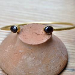 Bracelet grenat doré pierres