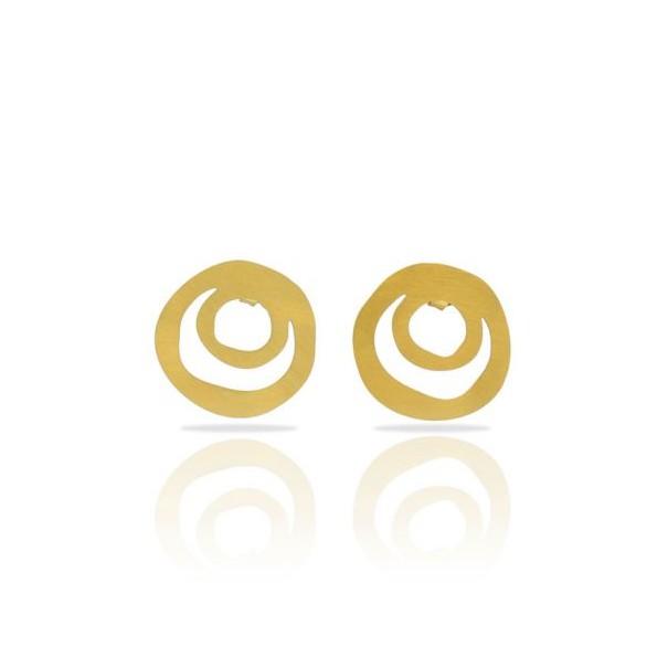 Boucles d'oreilles clous dorées...