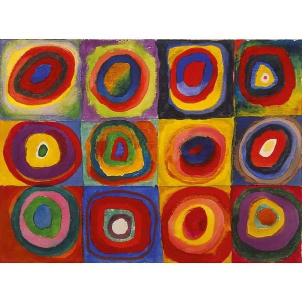 Collier court rond émaillé Kandinsky...