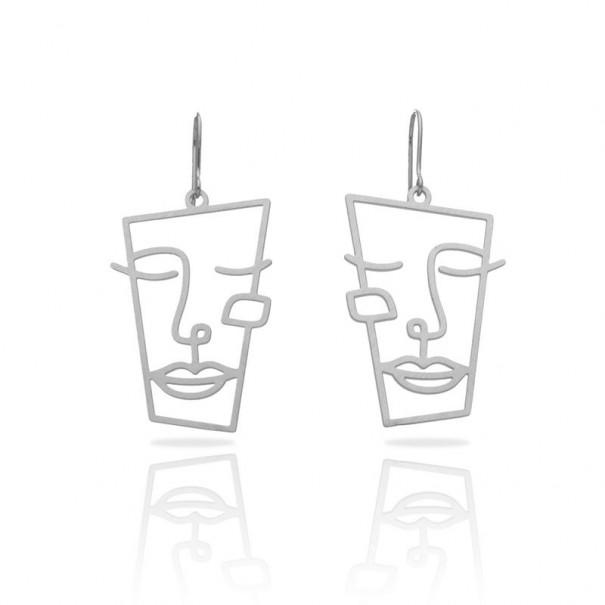 Boucles d'oreilles argentées fines...