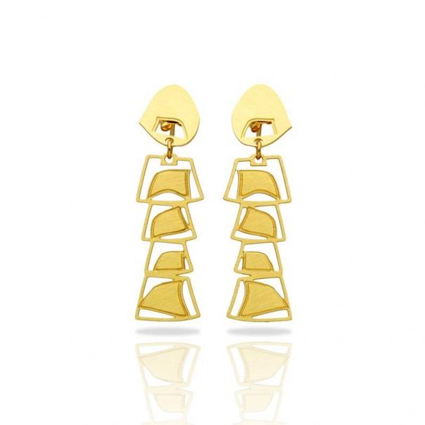 Boucles d'oreilles dorées africaines...