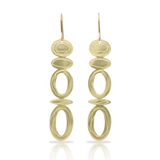 Boucles d'oreilles dorées Opéra marque RAS