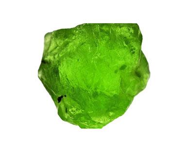 pierre brute Péridot